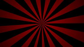 Red pinwheel rotating abstract background Vintage style seamless loop stock video