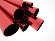 Red pipe concept on white Stock Image