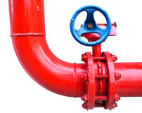 Red pipe Stock Photography