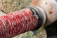 Red pipe Royalty Free Stock Photo