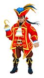 Red pirate with hooks Stock Photo