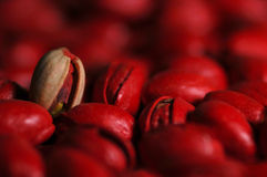 Red pistachios Stock Image