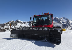 Red piste basher Royalty Free Stock Image