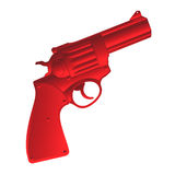 Red pistol. Isolated object over white background Royalty Free Stock Photos