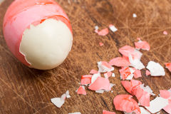 Red pitched shell of an easter egg Royalty Free Stock Images