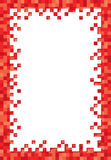 Red Pixel Frame Royalty Free Stock Images