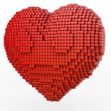 Red pixel heart Stock Photos
