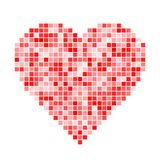 Red pixel Heart Stock Image