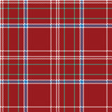 Red pixel seamless pattern check fabric texture plaid Stock Image