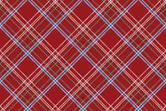 Red pixel seamless pattern check fabric texture plaid Stock Photo