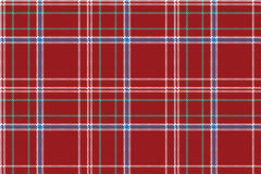 Red pixel seamless pattern check fabric texture plaid Stock Photography