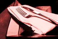 Red Place Setting Royalty Free Stock Photography
