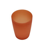 Red plactic camping cup. Isolated Royalty Free Stock Photography