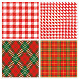 Red plaid. Set of red plaid pattern.  Vector illustration Royalty Free Stock Images