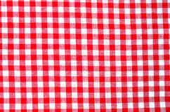 Red plaid fabric Royalty Free Stock Photos