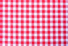 Red plaid fabric Stock Image