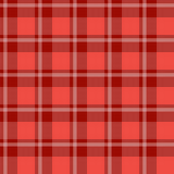 Red plaid fabric Stock Images