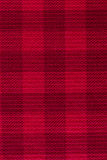 Red plaid fabric texture background Stock Images