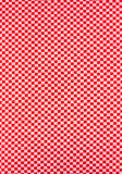 Red plaid fabric texture Stock Photography