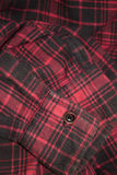 Red plaid flannel fabric cloth Royalty Free Stock Images