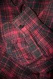 Red plaid flannel fabric cloth Stock Image