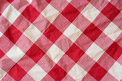 Red Plaid Material Background royalty free stock photo