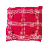 Red plaid pillow Stock Images