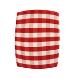 Red plaid pillow isolated on white Stock Photography