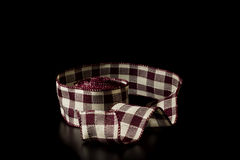 Red plaid ribbon Stock Image
