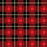 Red Plaid Stock Image