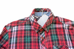 Red plaid shirt on white Stock Image