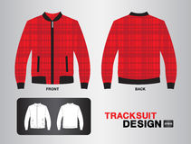 Red plaid tracksuit vector design Royalty Free Stock Photography