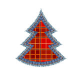 Red plaid tree Stock Photo