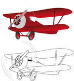 The red plane Stock Image