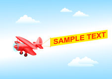 Red plane Royalty Free Stock Images