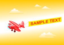 Red plane Royalty Free Stock Photography