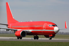 Red plane Stock Photo