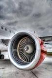 Red Plane Engine Stock Image