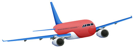 A red plane Stock Image