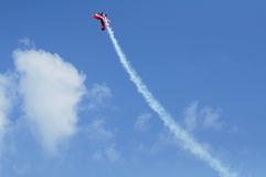 Red plane looping Stock Photos