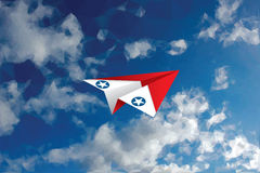 Red plane usaf Stock Images