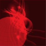 Red planet background vector Royalty Free Stock Image