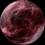 Red Planet. On a black background Stock Photos