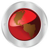 Red planet button Stock Image