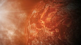 Red planet is close to the sun. Movement of celestial bodies in space. stock video