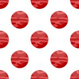 Red Planet Flat Icon Seamless Pattern Royalty Free Stock Photo