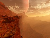 Red planet landscape Stock Photos