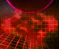 Red Planet Laser Space Background Royalty Free Stock Photo