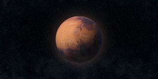Red planet Mars. Astronomy and science concept. Elements of this image furnished by NASA. Red planet Mars. Astronomy and science concept. Elements of the image royalty free stock photos