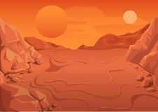 Red Planet Mars in space. Space landscape Stock Photos